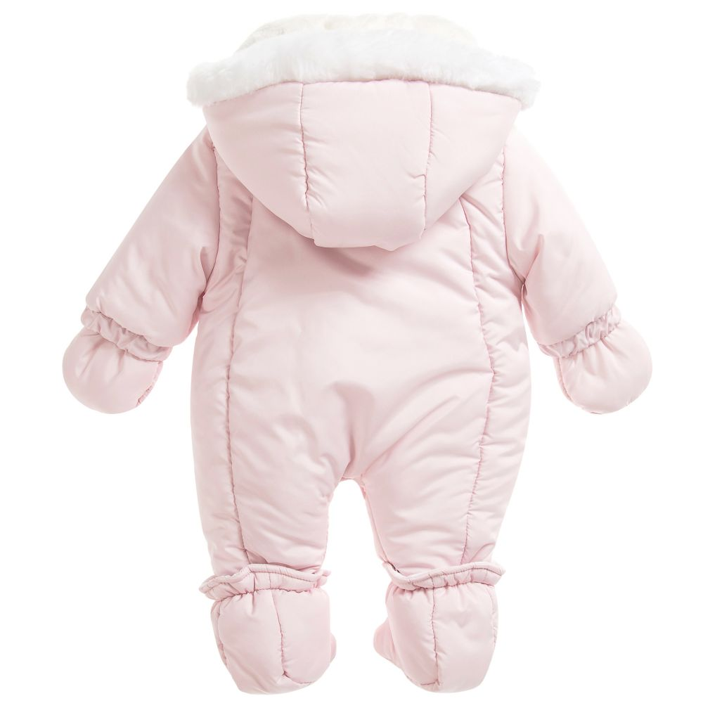 Ido Mini Baby Girls Pink Snowsuit Donna Louise Children