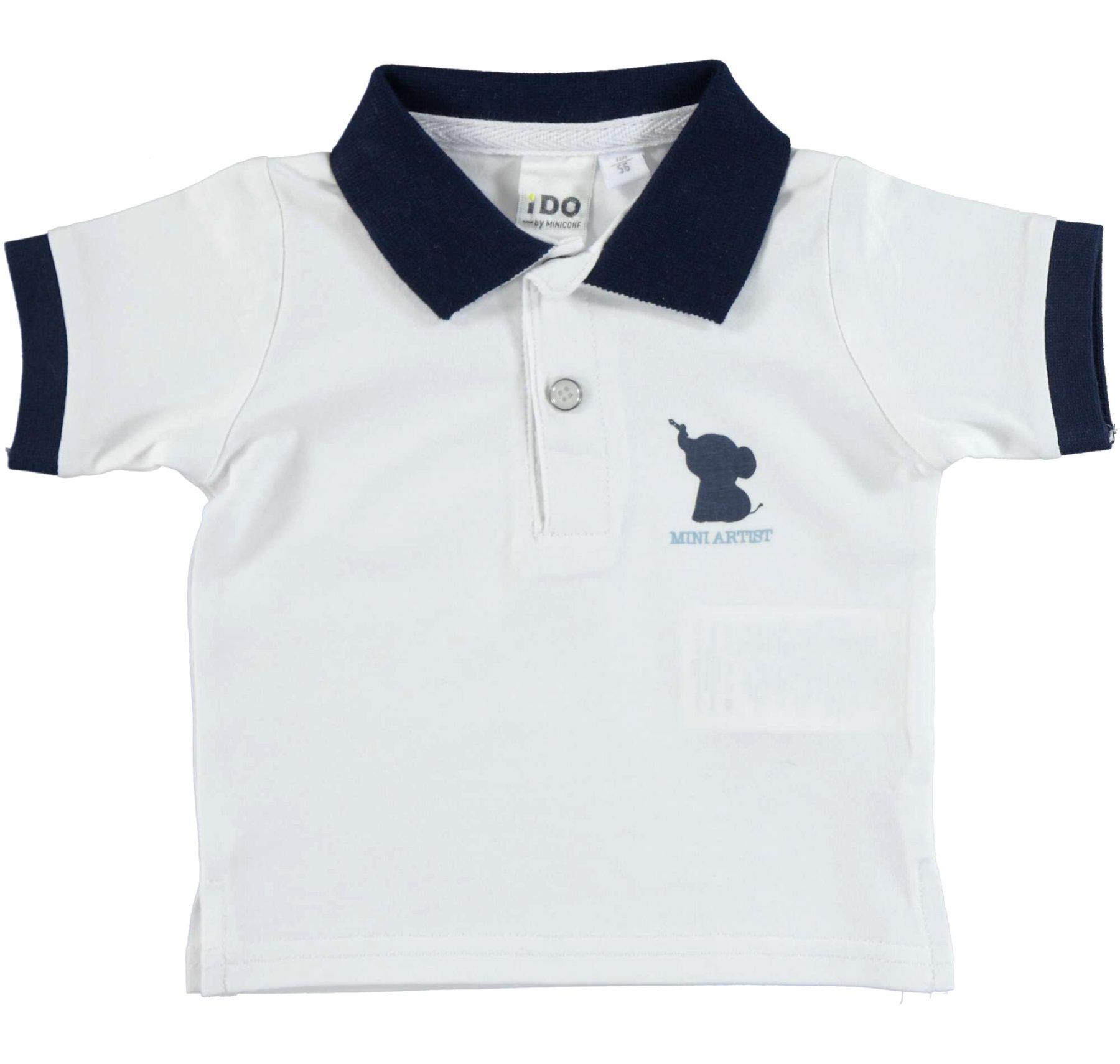 Ido Navy And White Elephant Logo Polo Tirt Donna Louise